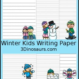 Free Kids Winter Activities Writing Paper