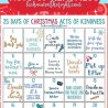 Free 25 Days of Christmas Acts of Kindness Printable