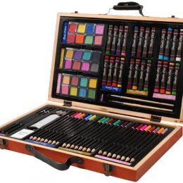 80 Piece Deluxe Art Set w/ Wooden Box Only $12.69!