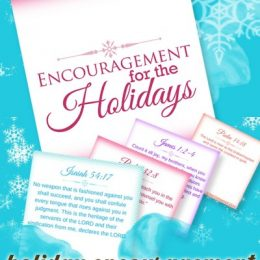 Free Holiday Encouragement Scripture Cards