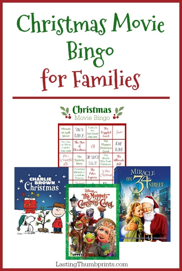 Free Christmas Movie Bingo Printable