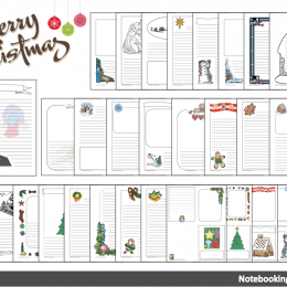 Free Christmas Notebooking Pages & Cards