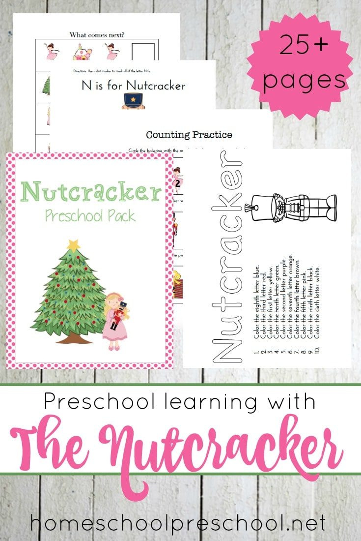 Free Nutcracker Preschool Printable Pack