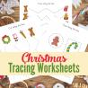 Free Christmas Tracing Sheets