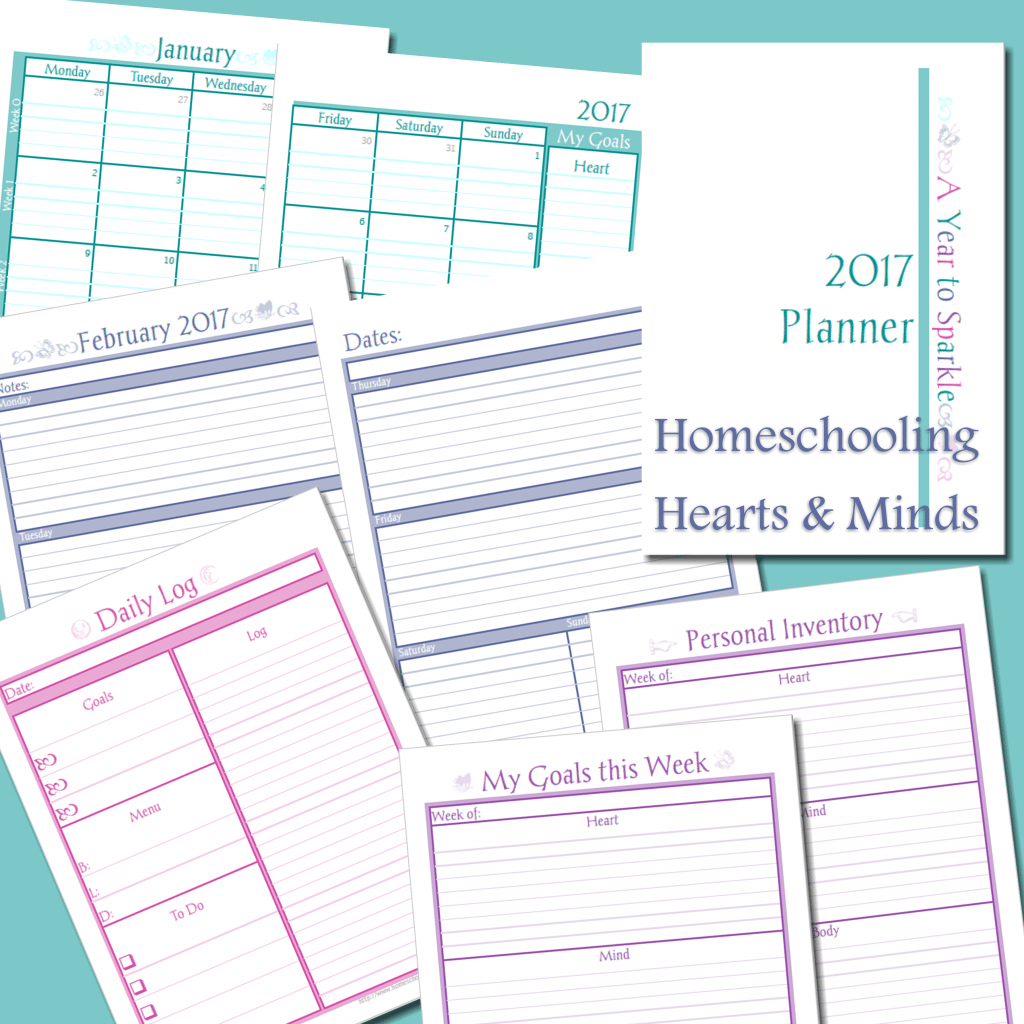 Free A Year to Sparkle Planner for Moms