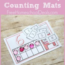 FREE VALENTINE'S DAY COUNTING MATS (Instant Download)