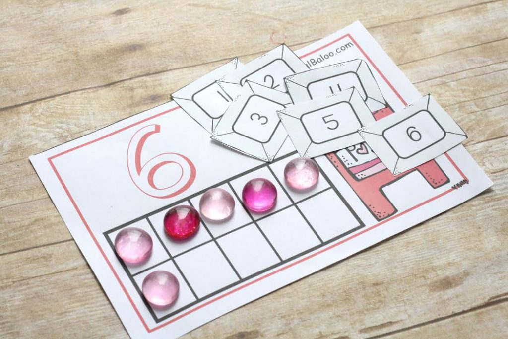 Free Valentine S Day Counting Mats Instant Download