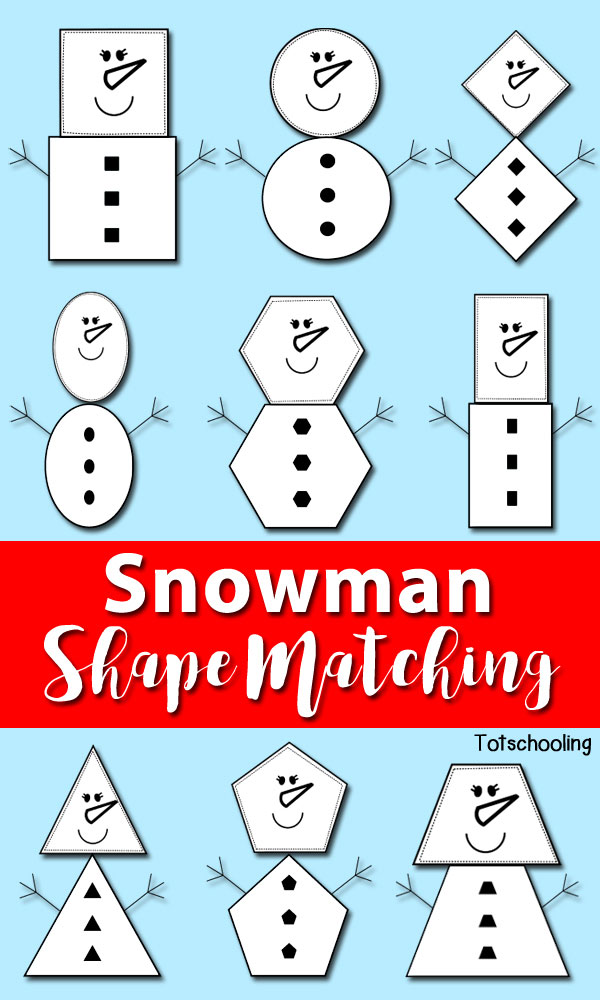 Free Snowman Shape Matching Printables Free Homeschool