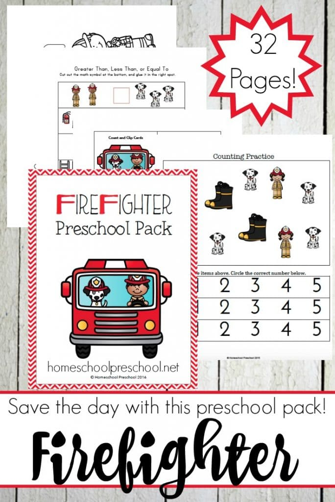 firefighter theme for preschool free firefighter preschool printable learning pack free 652