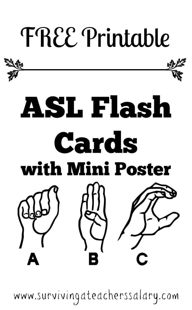 Sly image for asl printable