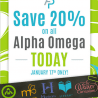 20% Off Alpha Omega Homeschool Curriculum - Today Only!