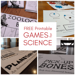 Free Printable Science Games – Zoology BINGO, Atoms & Isotopes, & More!