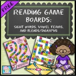 Free Reading Game Boards