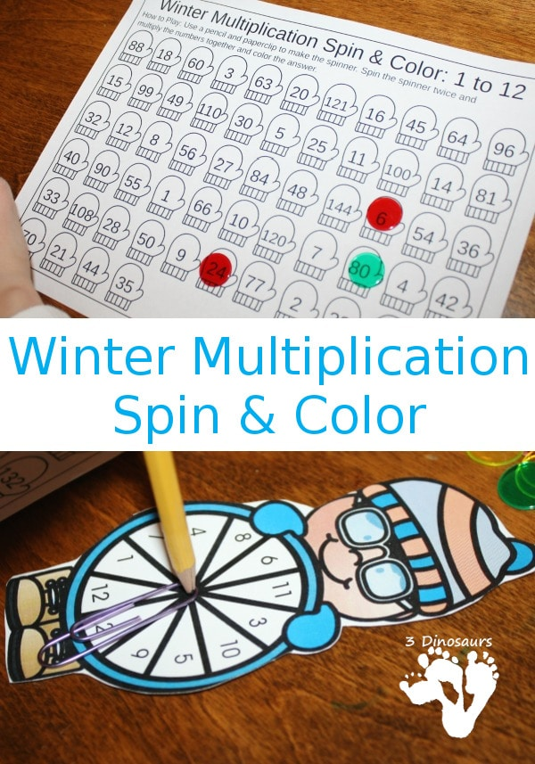 Free Multiplication Spin & Color Printable