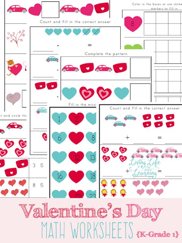 Free Valentines Day Math Worksheets – Valentines Math Worksheet