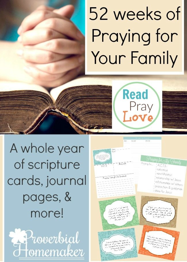 Free 52 Weeks of Praying for Your Family Pack