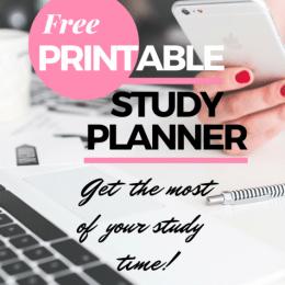 Free Study Planner Printables