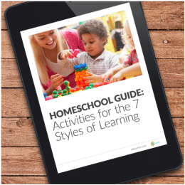 Free 7 Styles of Learning & Activities Homeschool Guide – $10 Value!
