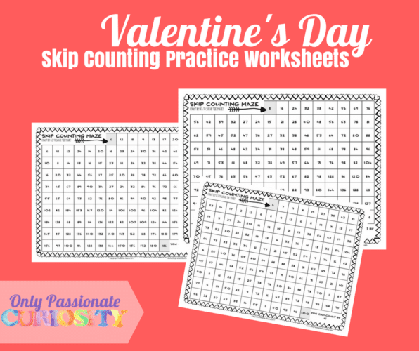 free valentine 39 s day skip counting worksheets free homeschool deals. Black Bedroom Furniture Sets. Home Design Ideas