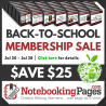 $25 Off Notebooking Pages Lifetime - 3 Days Only!