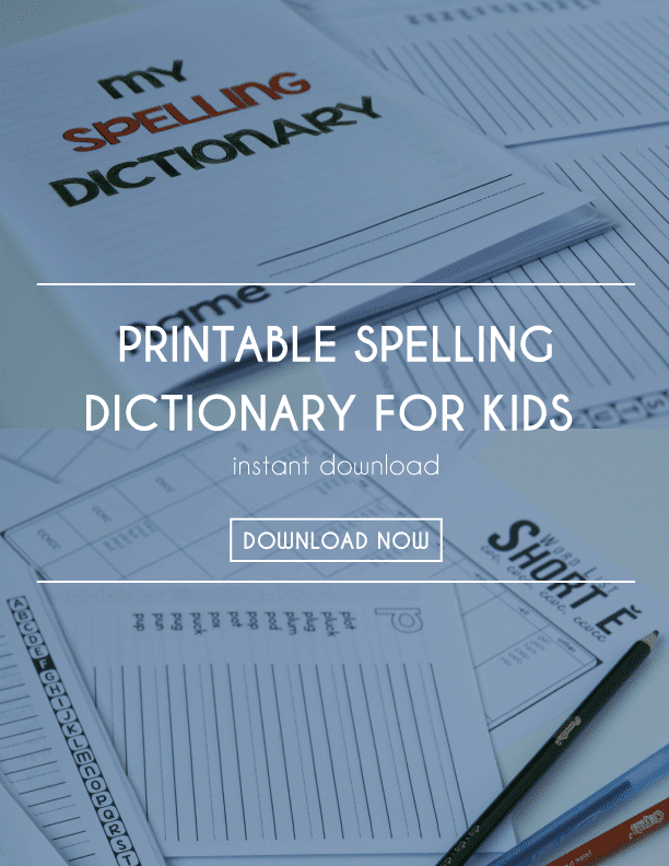 Free Printable Spelling Dictionary
