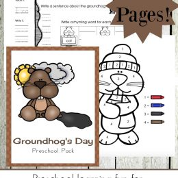 Free Groundhog Day Preschool Printables (25 Pages)