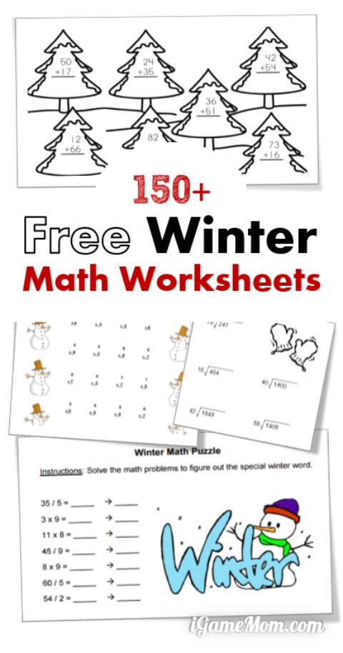 free winter math worksheets free homeschool deals. Black Bedroom Furniture Sets. Home Design Ideas