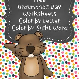 Free Groundhog's Day Coloring Worksheets