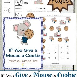 Free If You Give a Mouse a Cookie Preschool Pack