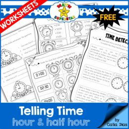 Free Telling Time Worksheets Sampler
