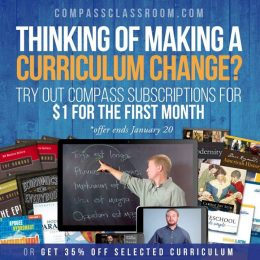 35% Off Compass Classroom Curriculum + Digital Course Only $1 First Month!
