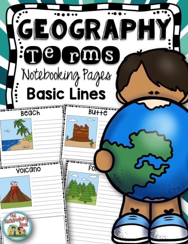 Geography Terms Notebooking Pages