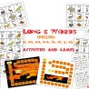 Long E Word Sort, Games and Activities packet