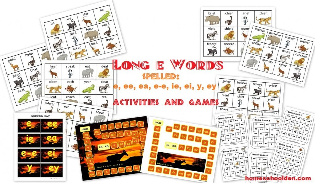 Free Long E Word Sort, Games and Activities Pack | Free Homeschool ...