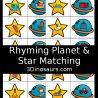 Free Rhyming Planet and Star Matching Game