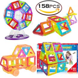158 Piece Magnetic Building Tile Set Only $49.99!