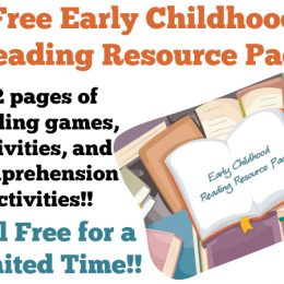 Free Early Childhood Reading Resource Pack (62 Pages!)