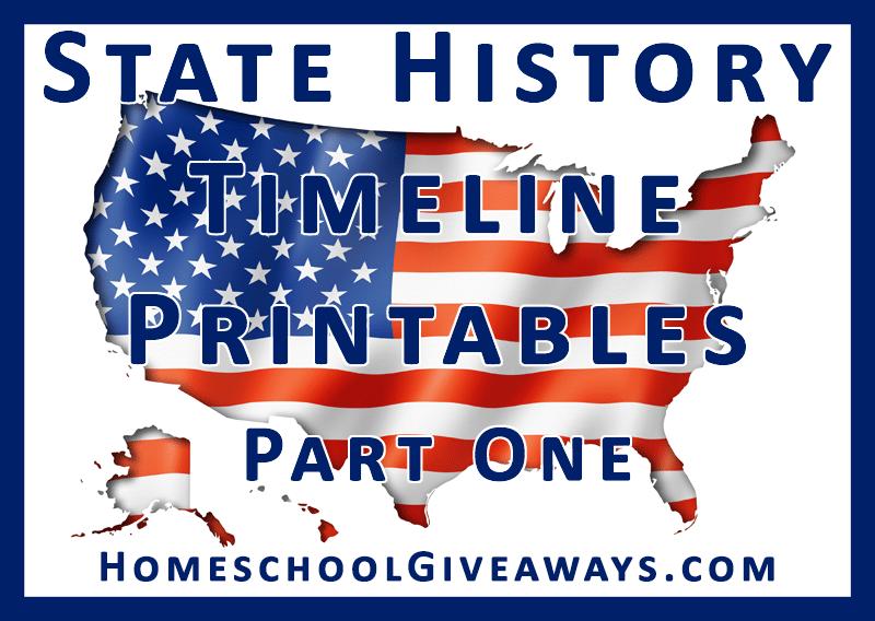 Free State History Timeline Printables | Free Homeschool ...