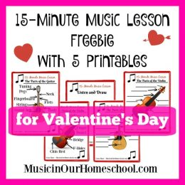 Free Valentine's Day Music Lesson Printables