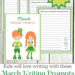Free March Writing Prompt Printables