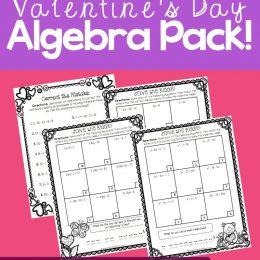 Free Valentine's Day Algebra Riddles Pack