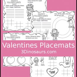 Free Valentine's Day Placemats for Kids