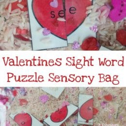 Free Valentine Sight Word Puzzles Sensory Bag