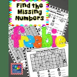 Free Find the Missing Number Printables
