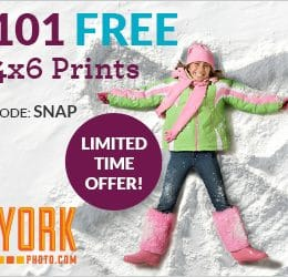 101 FREE 4 x 6 Photo Prints – Just Pay Shipping!