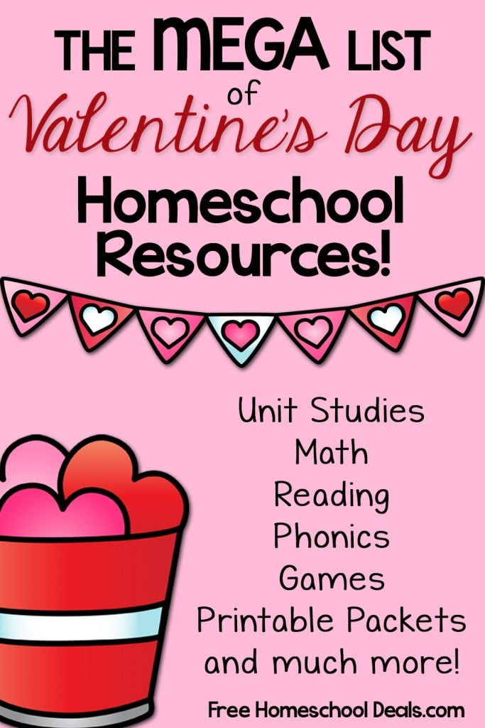 Mega List of Free Vanetine's Day Homeschool Resources