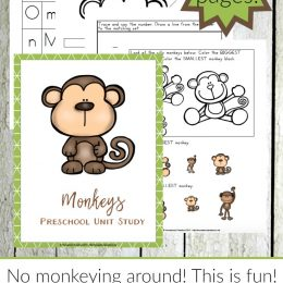 Free Monkey Preschool Unit Study (35 Pages!)