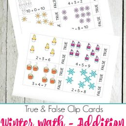 FREE WINTER ADDITION COUNT AND CLIP CARDS (Instant Download)