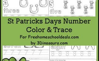 FREE ST. PATRICK'S DAY NUMBER COLOR & TRACE PACK (Instant Download)