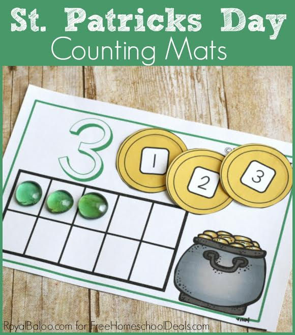 FREE ST. PATRICK'S DAY COUNTING MATS (Instant Download)